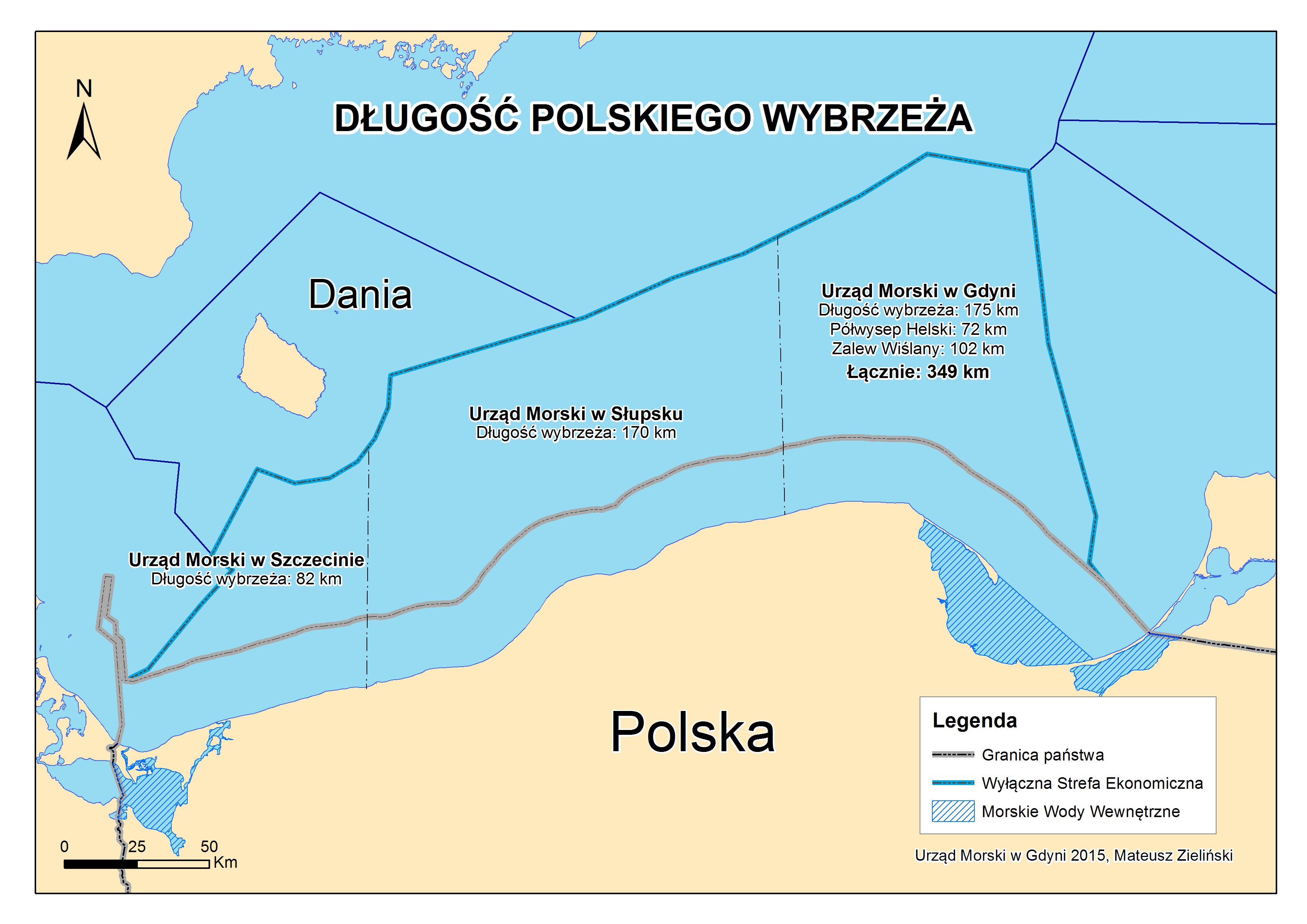 Długość polskiego wybrzeża
