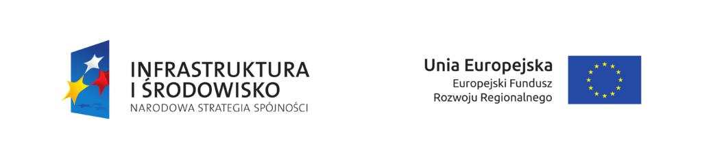 Banner informacji o dofinansowaniu wraz z logami Infrastruktura i Środowisko i Unia Europejska