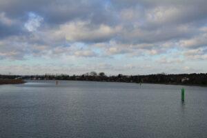 Widok na tor wodny po zakończeniu robót