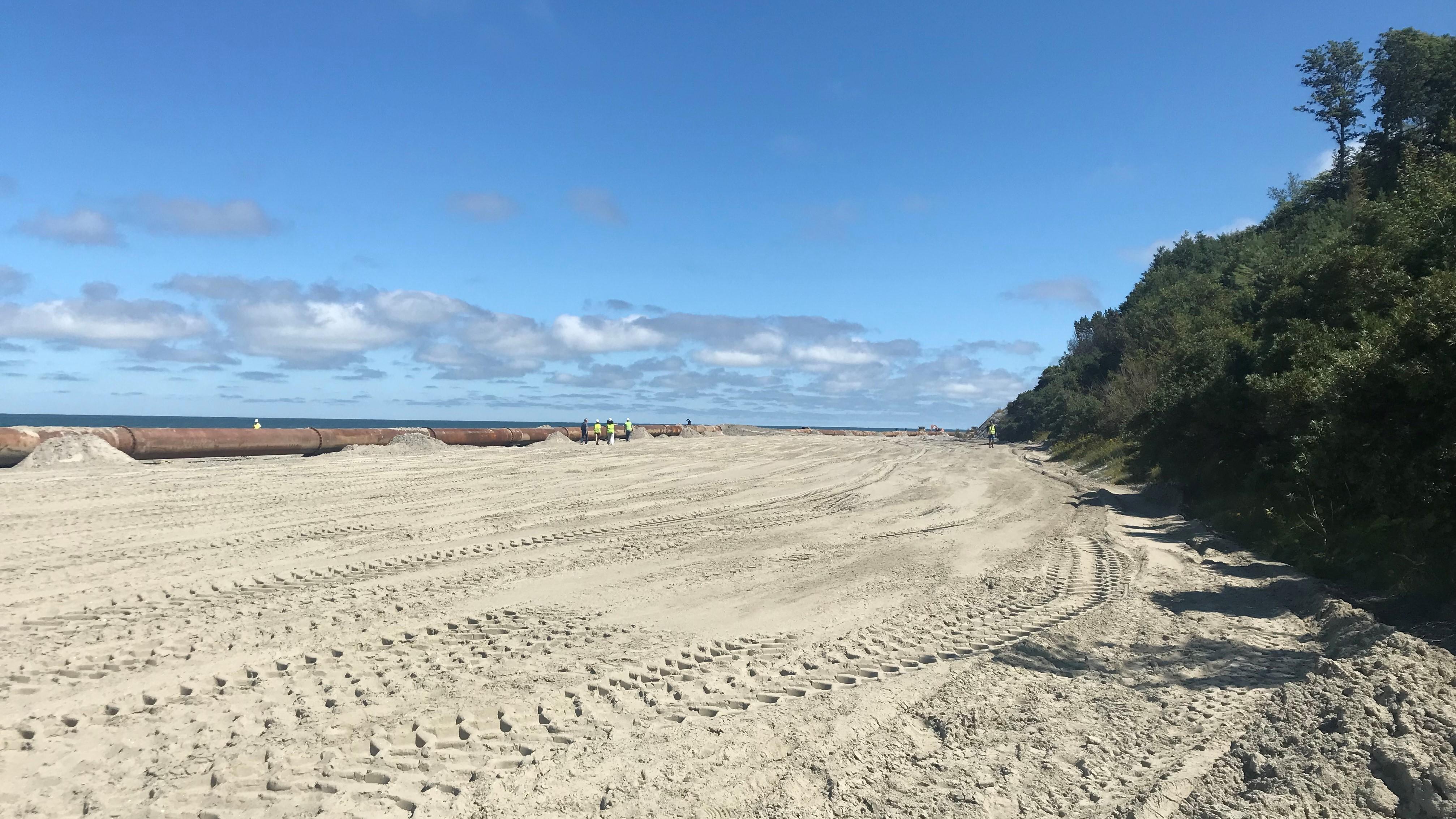 Refulacja plaż w Ostrowie i Jastrzębiej Górze