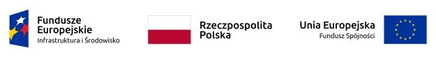 Pasek z logotypami Program Operacyjny Infrastruktura i Środowisko 2014-2020