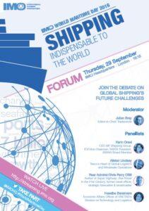 plakat IMO Światowe Dni Morza