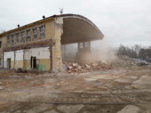 Rozbiórka hali pław - kwiecień 2019 r.