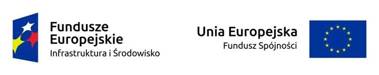 Pasek z logotypami Funduszu Spójności oraz Programu Operacyjnego Infrastruktura i Środowisko 2014-2020