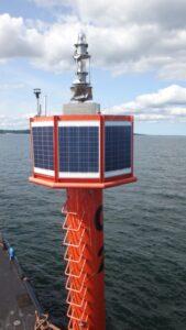Widok czujników systemu SMB na pławie G2