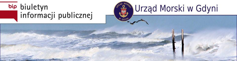 Nagłówek strony BIP Urzędu Morskiego w Gdyni