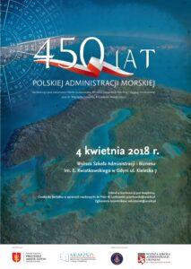 Plakat 450 lat Administracji Morskiej w Polsce