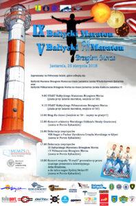 Plakat IX Bałtycki Maraton Brzegiem Morza