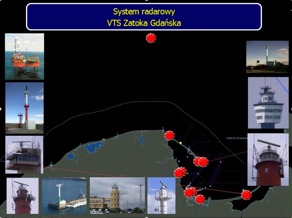Podsystem radarowy Systemu VTS Zatoka Gdańska.
