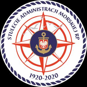 Logo 100-lecie Administracji Morskiej RP