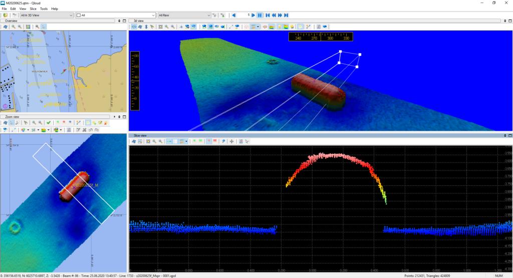 Obraz batymetryczny miny GC