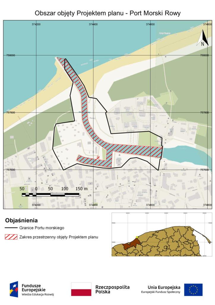 Obszar objęty Projektem planu - Port Morski Rowy