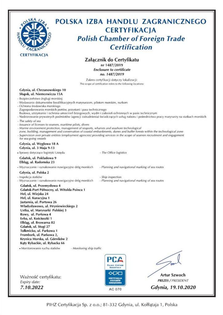 Certyfikat ISO 27001:2017 strona 2