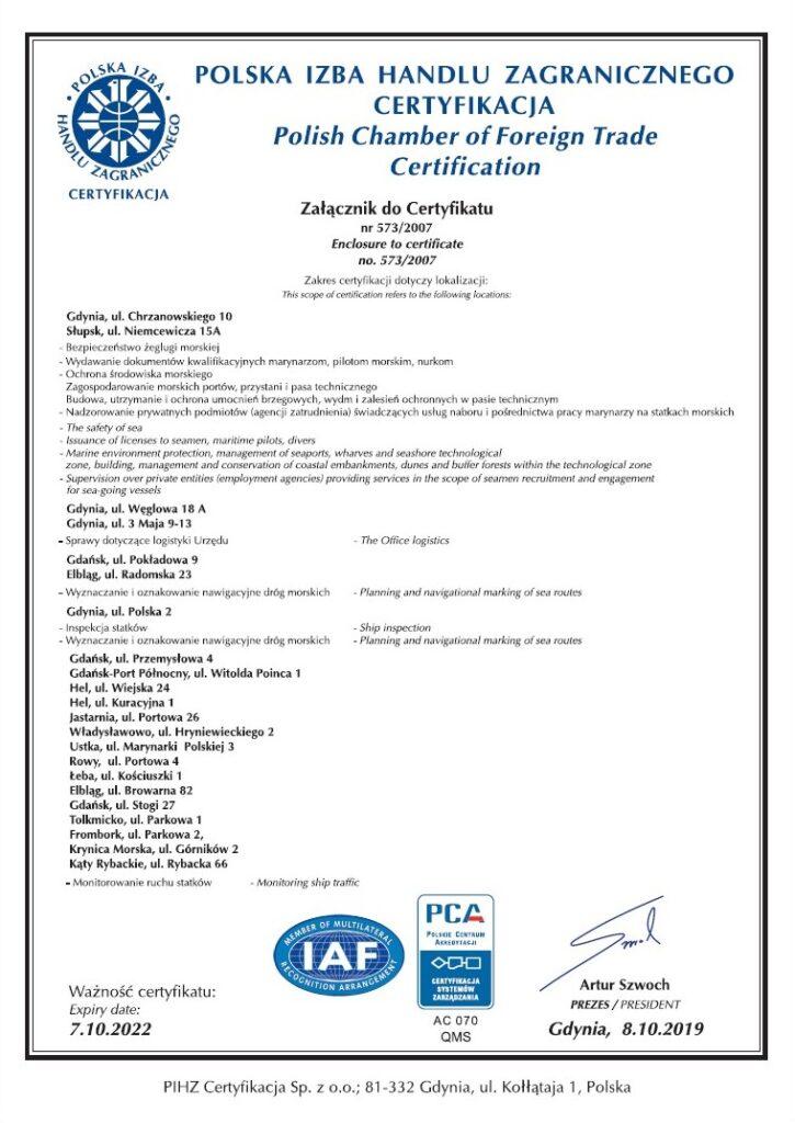 Certyfikat ISO 9001:2015 strona 2