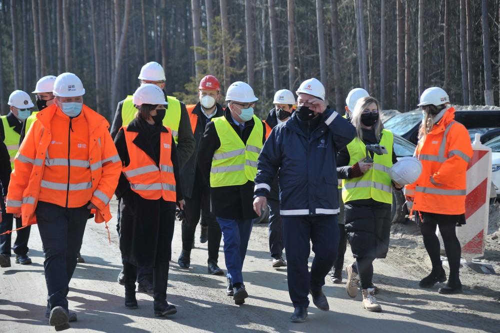Wizyta ministra infrastruktury ndrzeja Adamczyka na budowie przekopu