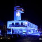 Budynek Kapitanatu Portu Gdynia na niebiesko fot. 2
