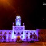 Siedziba główna Urzędu Morskiego w Gdyni na niebiesko fot. 2
