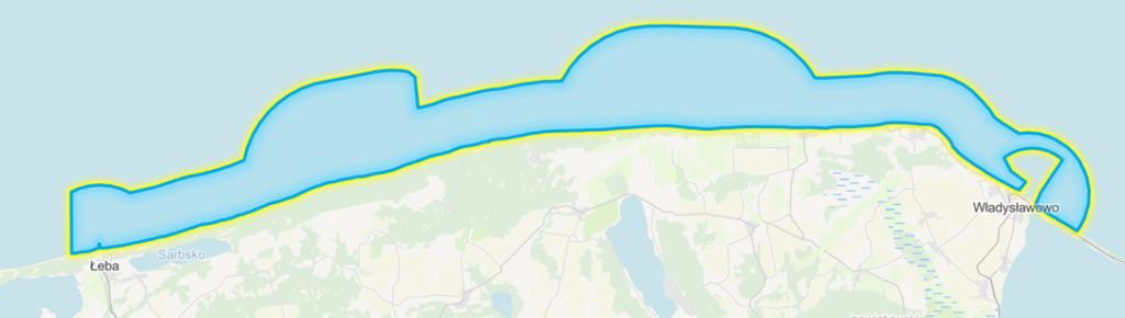 Mapa z granicami projektu planu